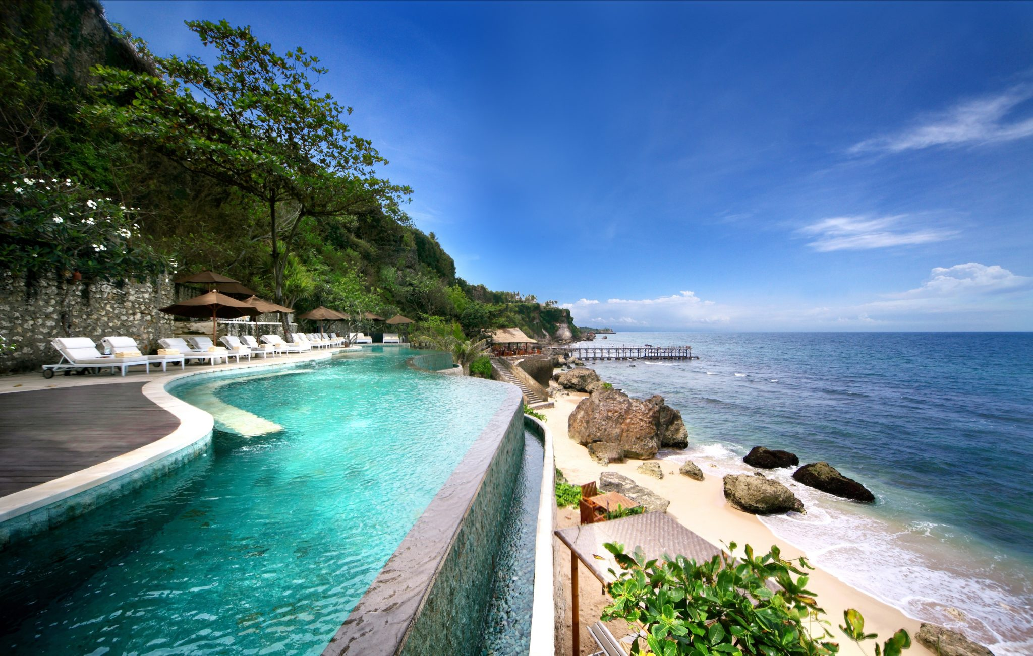 Ayana resort and spa bali indonesia infinity pools for Indonesia resorts bali