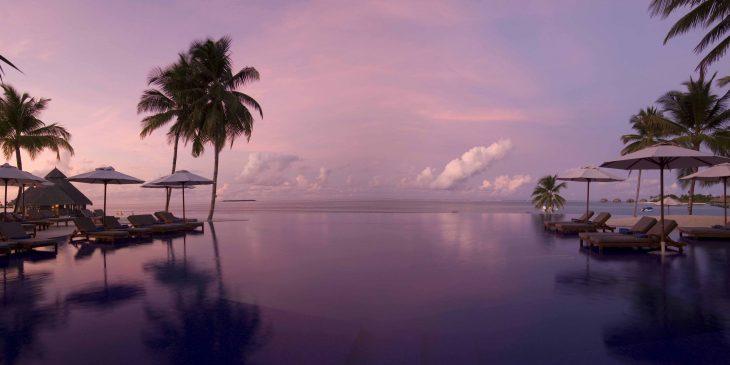 Infinity View Pool at the Conrad Maldives