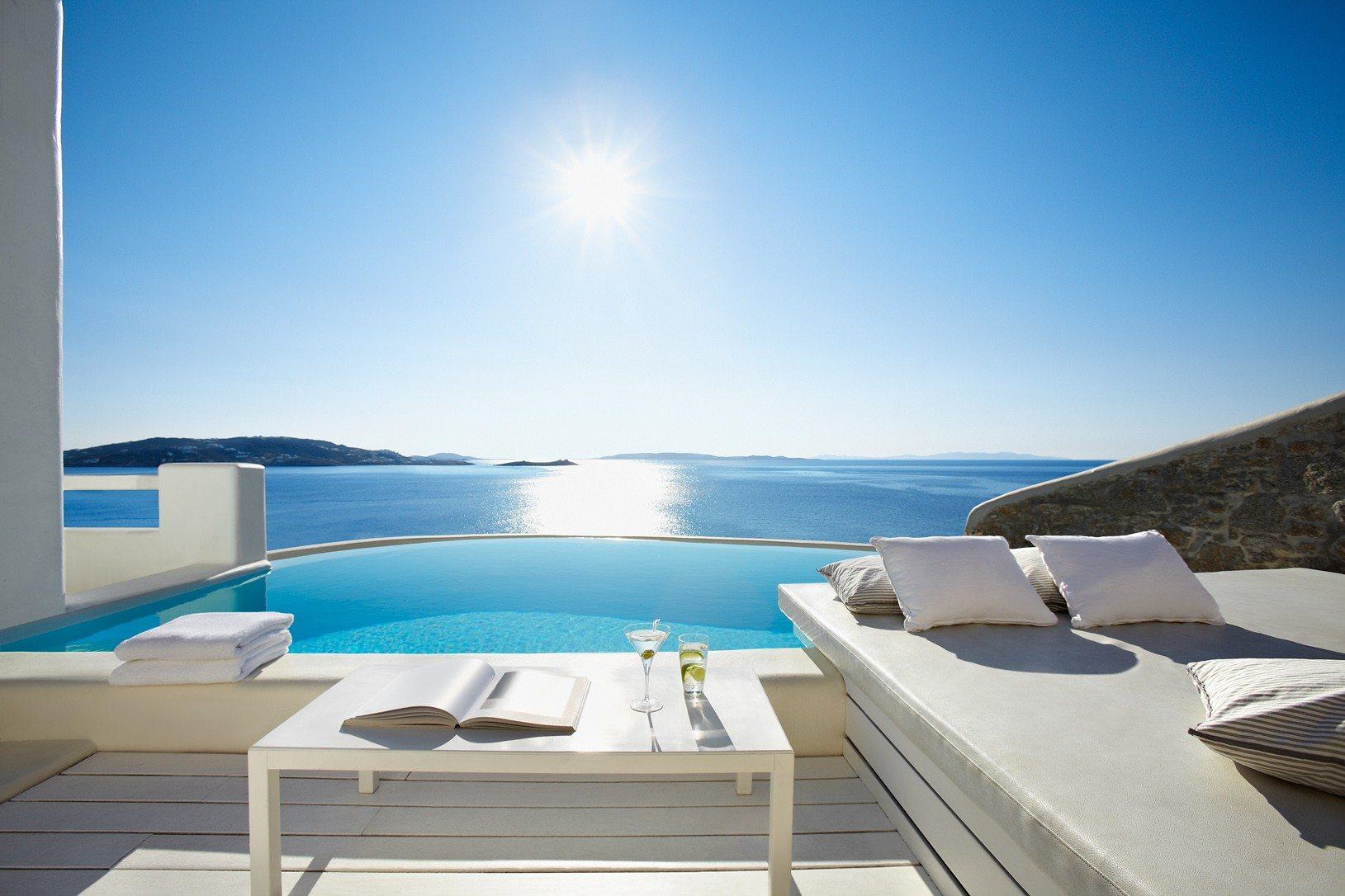 Cavo tagoo hotel greece infinity pools for Pool design company radom polen