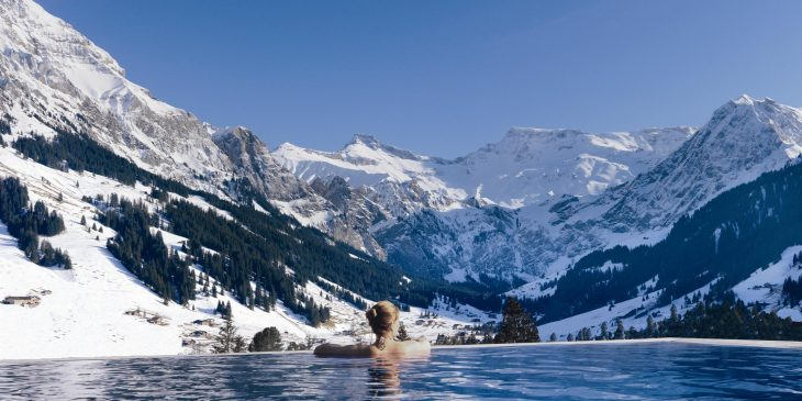 Infinity Pool at The Cambrian Adelboden Hotel and Spa