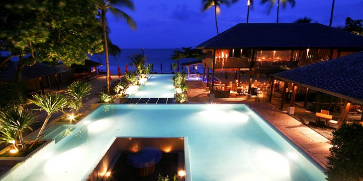 The Anantara Rasananda Resort at Night