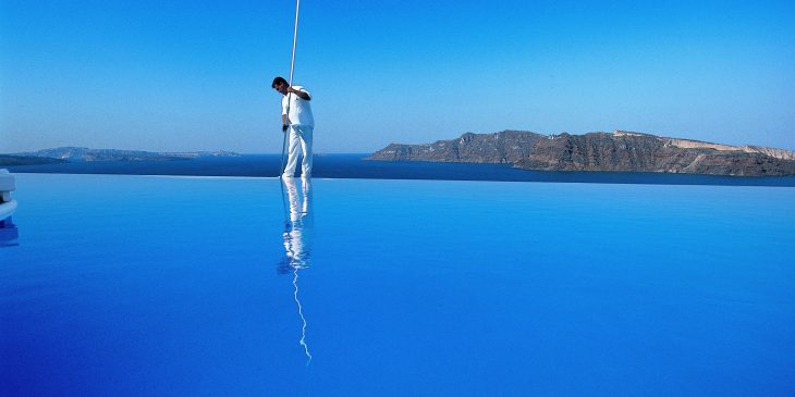 Infinity Pool at Katikies Hotel, Greece
