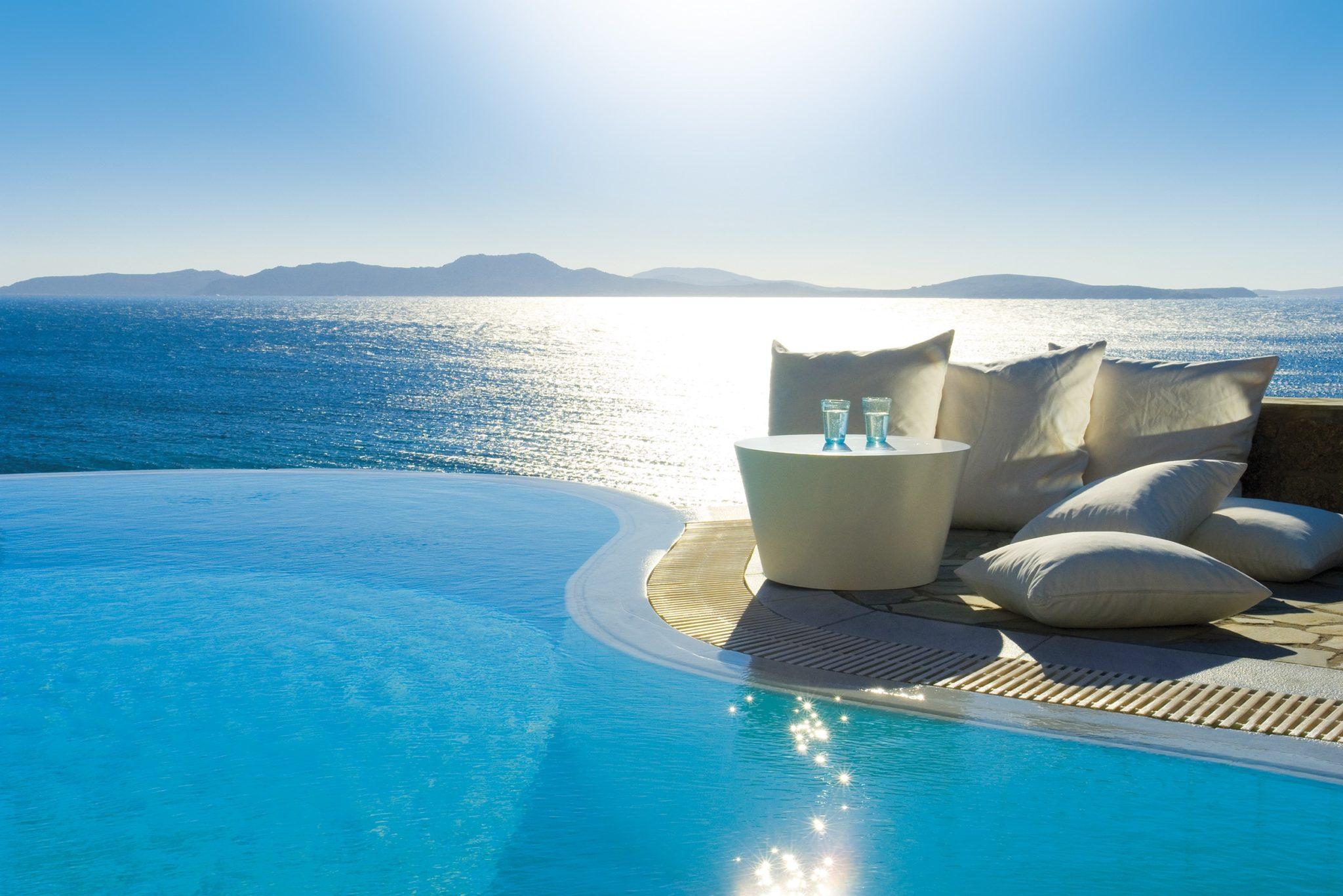 Mykonos grand hotel and resort greece infinity pools - Small infinity pool ...
