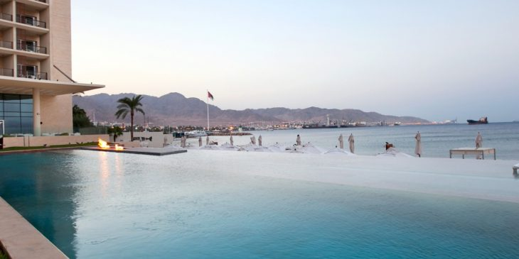 Infinity Pool at the Kempinski Hotel Aqaba, Jordan