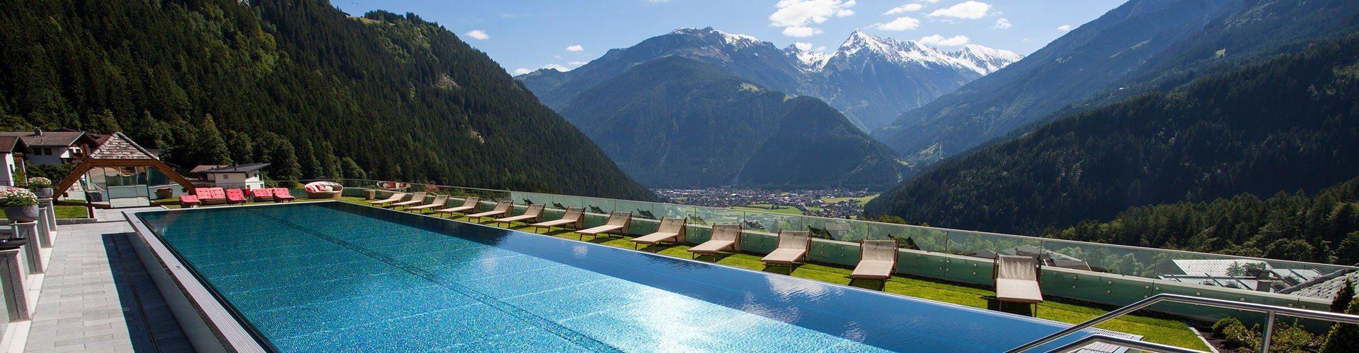 Stock Resort Finkenberg Zillertal Austria Infinity Pools